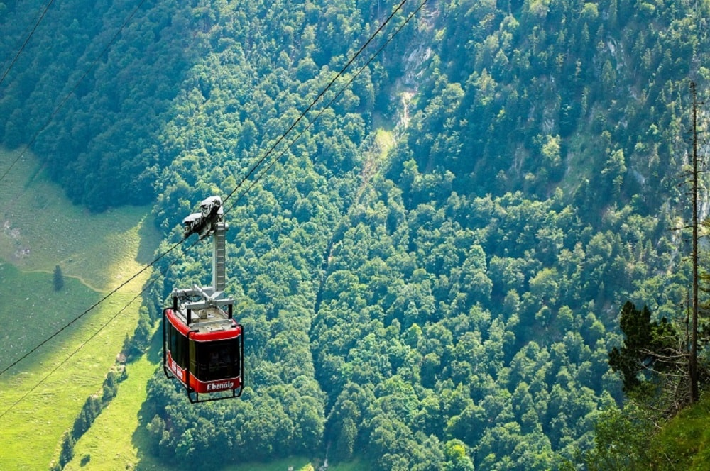 Funicular Routes in Switzerland